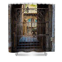St Paul Courtyard Shower Curtain by Inge Johnsson