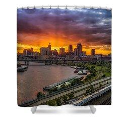 St. Paul Sunset Shower Curtain by Mark Goodman