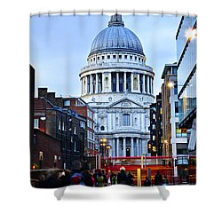 St. Paul's Cathedral At Dusk Shower Curtain by Elena Elisseeva