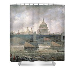 St. Paul's Cathedral From The Southwark Bank Shower Curtain by Richard Willis