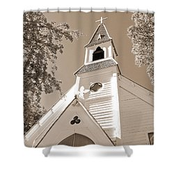 St. Paul's Church Port Townsend In Sepia Shower Curtain