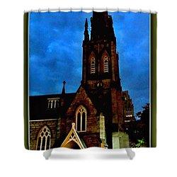 St. Paul's Presbyterian Church Front View Shower Curtain by Danielle  Parent
