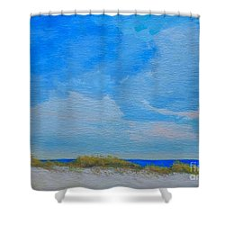 St. Pete Beach Spring Shower Curtain