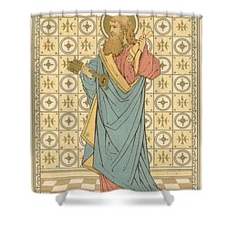 St Peter Shower Curtain by English School