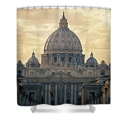 St Peter's Afternoon Glow Shower Curtain by Joan Carroll