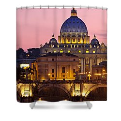 St Peters Basilica Shower Curtain by Brian Jannsen