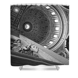 St Peter's Basilica Bw Shower Curtain by Chevy Fleet
