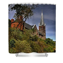St. Peter's Of Harpers Ferry Shower Curtain by Lois Bryan