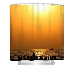 Shower Curtain featuring the photograph St. Petersburg Sunset by Peggy Hughes