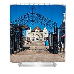 St Roch's Cemetery Shower Curtain by Steve Harrington