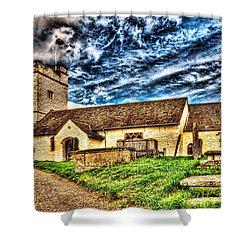 St Sannans Church Bedwellty Shower Curtain by Steve Purnell