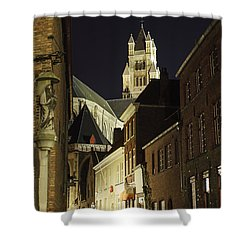 St Saviour Cathedral  Shower Curtain by Adam Romanowicz