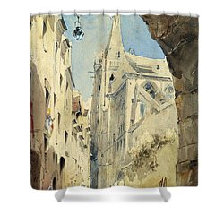 St. Severin Paris Shower Curtain by James Holland