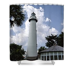 St. Simon's Island Georgia Lighthouse Shower Curtain