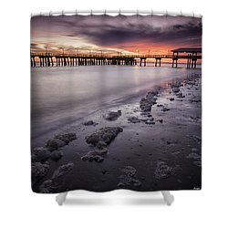 St. Simons Pier At Sunset Shower Curtain