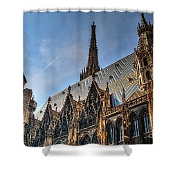 Shower Curtain featuring the photograph St. Stephen's Cathedral by Joe  Ng