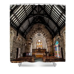 St Tudcluds Church Shower Curtain by Adrian Evans