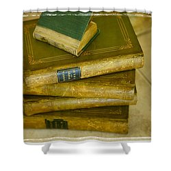 Stack Of Antique Books Shower Curtain by Don Hammond
