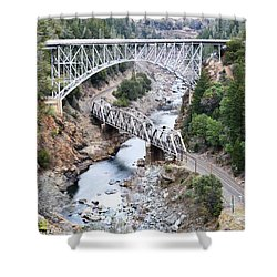 Stacked Bridges Shower Curtain