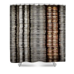 Stacked Coins Shower Curtain by Elena Elisseeva
