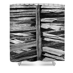 Shower Curtain featuring the photograph Stacked Fence by Lynn Palmer