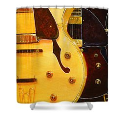Stacked Guitars Shower Curtain