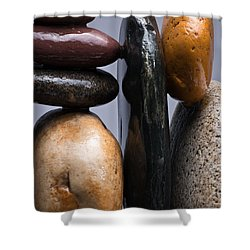 Stacked Stones 4 Shower Curtain by Steve Gadomski