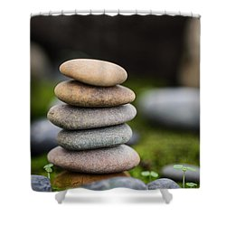 Stacked Stones B2 Shower Curtain