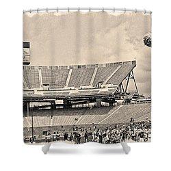Stadium Cheer Black And White Shower Curtain