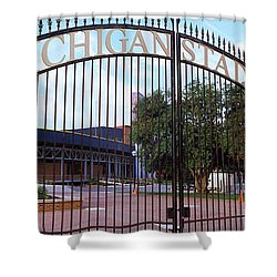 Stadium Of A University, Michigan Shower Curtain by Panoramic Images