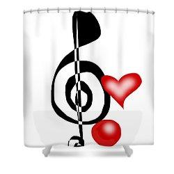 Staff Shower Curtain by Christine Fournier