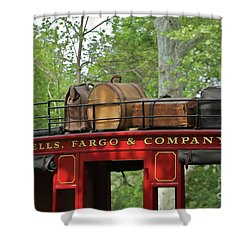 Stage Coach Shower Curtain by Rick  Monyahan
