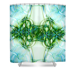 Stain Glass Shower Curtain by Lena Auxier