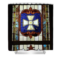 Stained Glass 3 Panel Vertical Composite 01 Shower Curtain by Thomas Woolworth