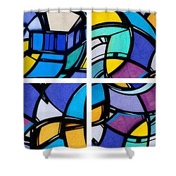 Stained Glass Shower Curtain by Art Block Collections