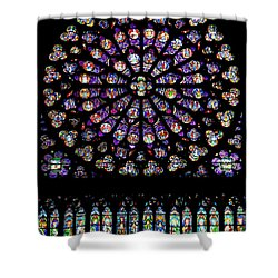 Stained Glass At Notre Dame Shower Curtain