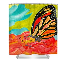 Stained Glass Flutters Shower Curtain