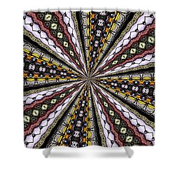 Shower Curtain featuring the photograph Stained Glass Kaleidoscope 1 by Rose Santuci-Sofranko