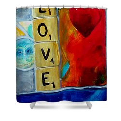Stained Glass Love Shower Curtain