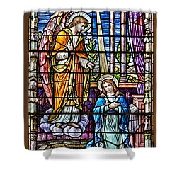 Stained Glass Shower Curtain by Susan Candelario