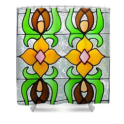 Shower Curtain featuring the photograph Stained Glass Window by Janette Boyd