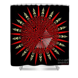 Stained Glass Window Kaleidoscope Polyhedron Shower Curtain by Rose Santuci-Sofranko