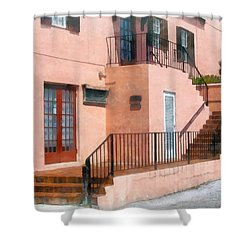 Staircase In Bermuda Shower Curtain by Susan Savad