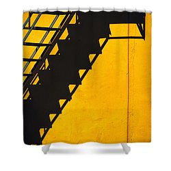 Shower Curtain featuring the photograph Staircase Shadow by Silvia Ganora