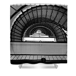 Shower Curtain featuring the photograph Stairs by Andrea Anderegg