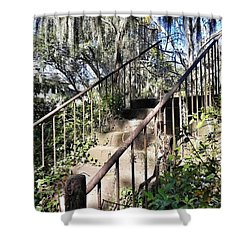 Stairs That Go Nowhere Shower Curtain