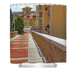 Stairway In Monaco French Riviera Shower Curtain