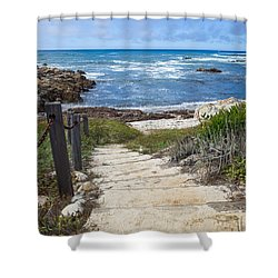 Stairway To Asilomar State Beach Shower Curtain