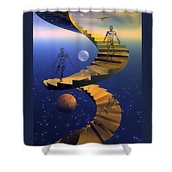 Stairway To Imagination Shower Curtain