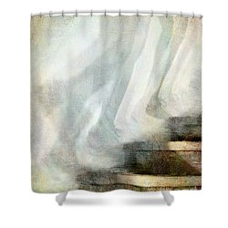Left Behind Shower Curtain by Jennie Breeze